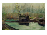 Delin Sawmill Giclee Print by Frederick Thomas Taylor