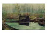 Delin Sawmill Premium Giclee Print by Frederick Thomas Taylor