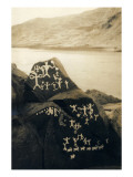 Petroglyphs at Buffalo Rock on the Snake River, Circa 1939 Giclee Print