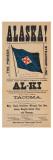 """Alaska! Pacific Coast Steamship Company"", 1899 Giclee Print"