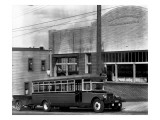 Tacoma Bus Company Office and Bus, 1927 Giclee Print by Chapin Bowen