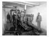 Underground Pump Room in Coal Mine, Newcastle, WA, 1909 Giclee Print by Asahel Curtis