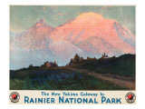 The New Yakima Gateway to Rainier National Park Poster, Circa 1925 Giclee Print by Sidney Laurence