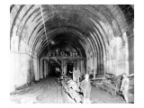 Great Northern Tunnel Under Seattle, Jan. 25, 1904 Giclee Print by Asahel Curtis