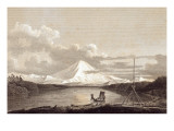 Mount Rainier From the South Part of Admiralty Inlet, 1792 Reproduction procédé giclée par George Vancouver and J. Edwards