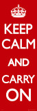 Keep Calm And Carry On T&#252;rposter Photographie