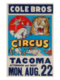 &quot;Cole Bros. Circus: Tacoma&quot;, Circa 1938 Giclee Print