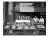 Palace Fish Market, Seattle, 1925 Giclee Print by Asahel Curtis