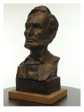 Bronze Bust of U.S. President Abraham Lincoln Giclee Print by James Wehn