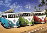 VW Camper - Campers Beach Poster