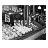 Vegetable Stands at Market, Pike Place, Seattle, 1926 Reproduction procédé giclée par Asahel Curtis