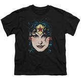 Youth: Justic League America - Wonder Woman Head T-shirts