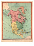 North America, 1790 Giclee Print by J. Wilkes