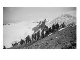 On the Summit of Rainier, 1909 Giclee Print by Asahel Curtis