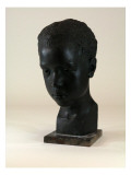Bust of Plaster and Painted Depicts an African American Boy Named Richard Burnside Giclee Print by James Wehn