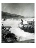 Celilo Fishing, Circa 1930 Giclee Print