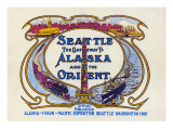 Seattle, the Gateway to Alaska and the Orient, 1909 Giclee Print