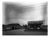 Texaco Gas Station, Circa 1928 Giclee Print by Chapin Bowen