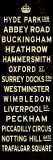 London Crown Sign Reproduction transférée sur toile