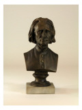 Bust Made of Plaster with Marble Base Depicts the Music Composer, Lizst Giclee Print by James Wehn