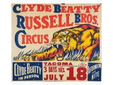 """Clyde Beatty, Russell Bros. Circus"", 1935 Premium Giclee Print"