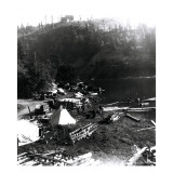 Historical Underwood (Big White Salmon) Indian Village, Circa 1936 Giclee Print