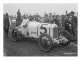 Driver and No.5 Racecar, Tacoma Speedway, Circa 1919 Giclee Print by Marvin Boland