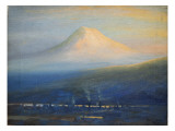 Mt. Tacoma at Sunset Giclee Print by Thomas Gibbs Moses