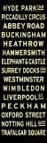 London Sign Reproduction transférée sur toile