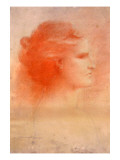 "A Woman in Profile, By James A. Wehn Signed ""James a Wehn Sc. 1908"" Giclee Print by James Wehn"