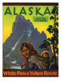 Alaska and the Yukon, White Pass and Yukon Route Giclee Print by Frederick Hiren