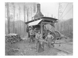 Donkey Engine at West Fork Logging Company, 1920 Giclee Print by Marvin Boland