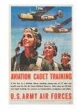 &quot;Aviation Cadet Training: U.S. Army Air Forces&quot;, 1943 Reproduction proc&#233;d&#233; gicl&#233;e