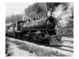 Railroad Locomotive 1443, Circa 1909 Giclee Print by Asahel Curtis