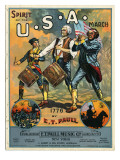 Spirit of the U.S.A. March Giclee Print by E.T. Paull