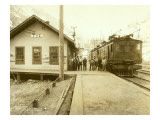 Railway Station at Tye, WA Premium Giclee Print by Asahel Curtis and Walter Miller