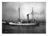 Steamship in Harbor, Circa 1909 Giclee Print by Asahel Curtis