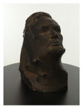 Bust of Abraham Lincoln Made of Plaster and Painted to Look Patinated Giclee Print by James Wehn