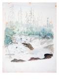 Tumwater Falls on the Stechas River Lámina giclée por James M. Alden