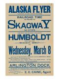 Alaska Flyer Poster, 1898 Giclee Print