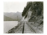 Lake Crescent Road, 1919 Giclee Print by Asahel Curtis