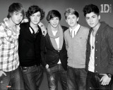 One Direction - B & W Kunstdruck