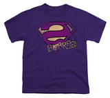 Youth: Superman - Bizzaro Logo Distressed Shirt