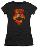 Juniors: Superman - Man on Fire T-shirts