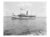 S.S. Flyer Steamship, 1908 Giclee Print by Asahel Curtis