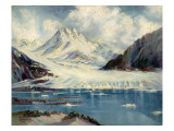 Alaska Glacier From Richardson Highway Giclee Print by Anna P. Gellenbeck