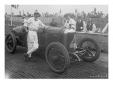 Driver and No.4 Racecar, Tacoma Speedway, Circa 1919 Giclee Print by Marvin Boland