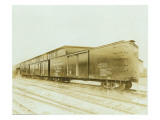 Railroad Boxcar, Chicago-Milwaukee-St. Paul Line, Circa 1920s Reproduction procédé giclée par Marvin Boland