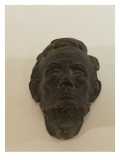 Small Mask of Abraham Lincoln is Made of Plaster and Painted to Look Patinated Giclee Print by James Wehn