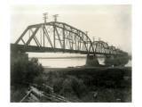 N.P. Bridge From Pasco, Circa 1922 Giclee Print by Asahel Curtis